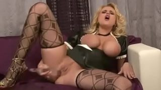 Busty Maid Angel Wicky Makes Herself Cum
