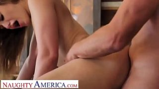 naughty america kenzie madison plays strip pool with friend and 039 s brother