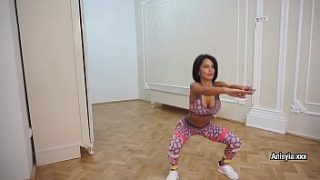 sexy fitness with anisyia