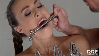 submissive tiffany doll chained dominated and analyzed