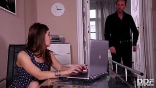 Roping during business hours leads to hardcore anal fuck with Renata Fox