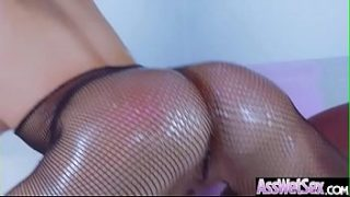 Big Butt Girl (Aleksa Nicole) Get Oiled And Deep Anal Nailed On Cam video-04